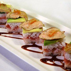Oshi Zushi Scaloppa foie gras | 5 pezzi
