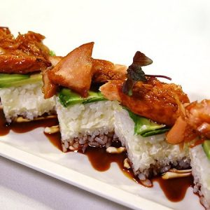 Oshi Zushi Salmone Teriyaki e Avocado   5 pezzi